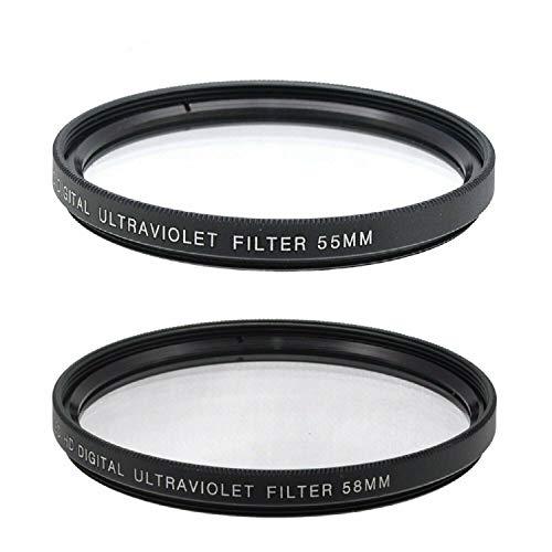 55mm and 58mm UV Filter for Nikon D3500, D5600, D3400 DSLR Camera with Nikon 18-55mm f/3.5-5.6G VR AF-P DX and Nikon 70-300mm f/4.5-6.3G ED