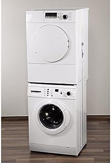 Xavax Zwischenbaurahmen offene Front für Waschmaschine und Trockner, 55 - 68 cm  1 Sicherungszurrgurt Neu auch geeignet für: - Waschmaschinen mit schräger bzw. gewölbter Waschmaschinenfront - Waschmaschinen mit einer Waschmittel-Schublade, die bis zum Deckel reicht - Trockner, die eine Reinigungsklappe am unteren Teil der Vorderfront haben