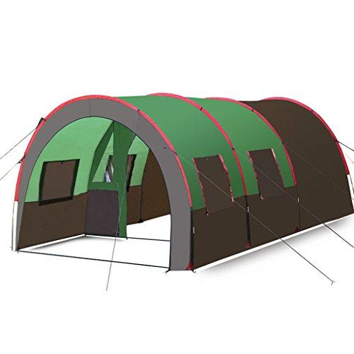 Lewie-Tentes Grande Tente Tunnel Camping en Plein air multijoueur 8-10 Personnes Tente de Camping Pluie Une Chambre et Deux salles de séjour