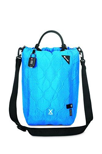 Pacsafe Travelsafe X15 - Mobiler Safe mit TSA-Zahlen Schloß, Trage-Tasche mit Anti-Diebstahl Technologie, 25 Liter, Türkis / Hawaiian Blue