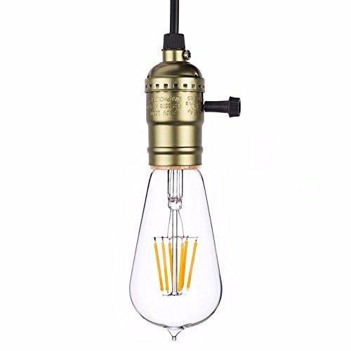 真鍮 ソケット ペンダント ライト E26 エジソンバルブ用シーリングコード エジソン レトロ ランプホルダー ロータリスイッチ (イミテーションブロンズ)