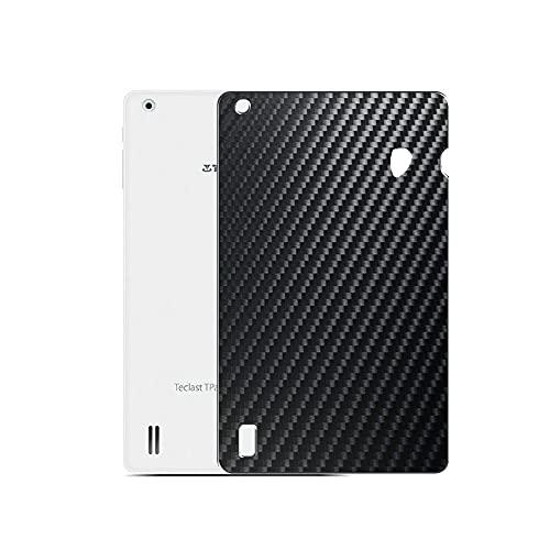 VacFun 2 Piezas Protector de pantalla Posterior, compatible con Teclast X80 Pro 8', Película de Trasera de Fibra de carbono negra Skin Piel