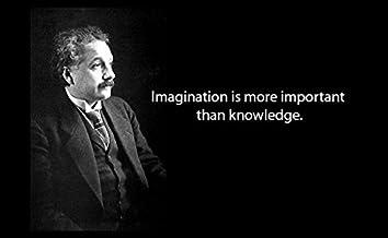 20 x 30 XXXL Poster Albert Einstein Quote Imagination Is More Important Than Knowledge