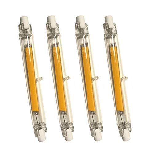 Bombilla LED,118Mm 110V Regulable COB Filamento R7S Bombilla de iluminación Lineal de DobleExtremoÁngulo de Haz de 360 °,Reemplazo de lámpara halógena de 130W (Paquete de 4 Blancos fríos),Bom