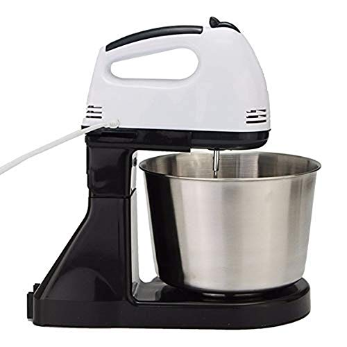 2 in 1 Hand & Mixer, Met Zwaait, Stainless Steel 220V Kitchen Food, Mixer Cream Egg Klop Blender Cakedeeg Mixer