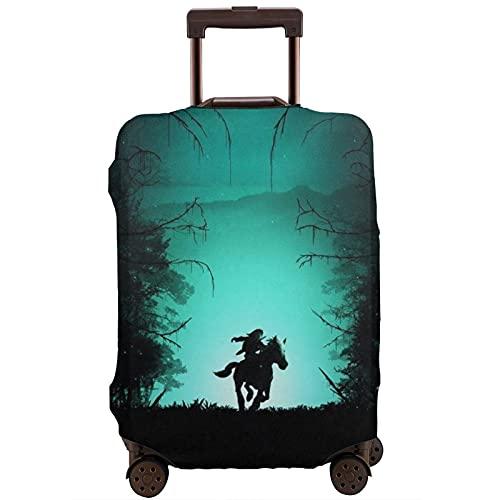 Legend Zelda - Custodia protettiva per valigia, lavabile e interessante, con elastico, bianco, XL,