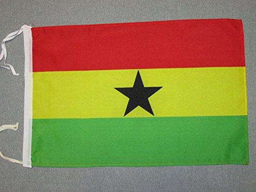 AZ FLAG Flagge Ghana 45x30cm mit Kordel - Republik Ghana Fahne 30 x 45 cm - flaggen Top Qualität