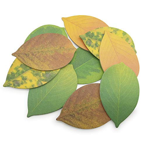 """Cute Tree Leaf Sticky Notes/Paper Memo Self-Adhesive Notes, 3.93"""" x 2.45"""" 10 Pads/Pack, 23 Sheets/Pad (5 Colors)"""