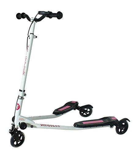 Kidzmotion Wringler Schwung-Roller mit 3 Rädern, Dreiradscooter, Alter 5–9 Jahre, Pink
