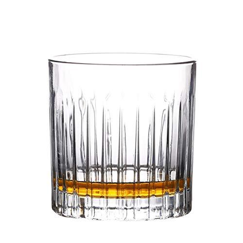 AIKENR vasos de whisky de cristal, vasos de whisky de doble moda, para servir whisky, cócteles o bebidas mixtas, whisky