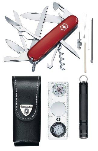Victorinox Reiseset Traveller Set (26 Funktionen, Kompass, Maglite Taschenlampe)
