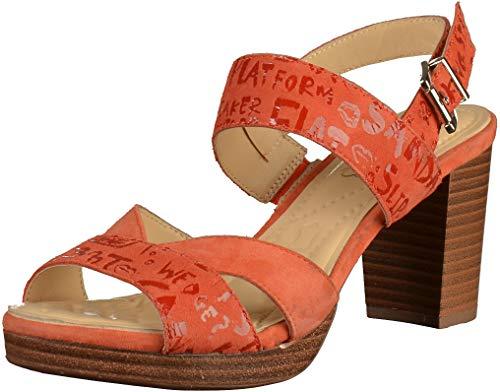 CAPRICE 9-9-28321-32 Damen Sandalen Orange, EU 38,5