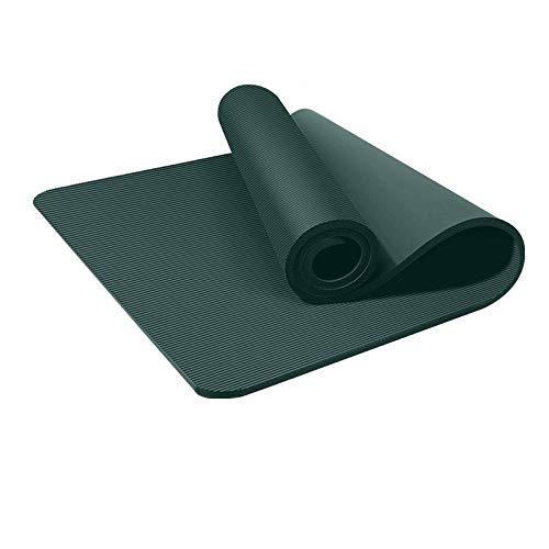 8bayfa Männer Fitness Mat Anfänger Yoga-Matte verdickte Verbreiterte Verlängerte Anti-Rutsch-Yoga-Sport Fitness Sit-ups Trainingsmatten Heim.1211 (Color : Green, Size : 10mm)