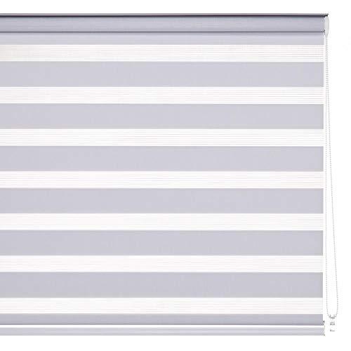 Estor Enrollable Noche y día Blanco de Tela nórdico de 180x160 cm - LOLAhome