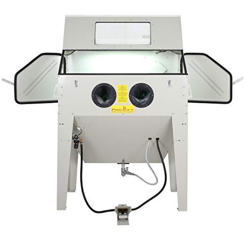 Pro-Lift-Montagetechnik Sandstrahlkabine 420 Liter inkl Zubehör (SB42AJ) mit eingebauter Absaugung, 01559