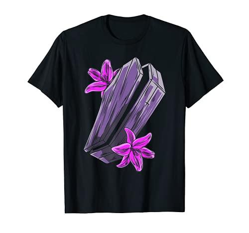 Get In Loser Goth ataúd pastel ataúd flores Halloween Camiseta