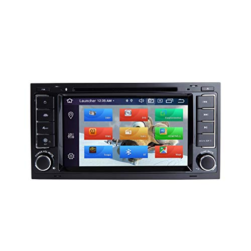 ZLTOOPAI Auto Multimedia Player für VW Volkswagen TOUAREG T5 Transporter Android 10 Octa Core 4G RAM 64G ROM 7 Zoll IPS Doppel DIN Autoradio Audio Stereo GPS Navigation