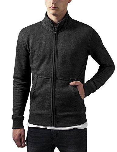 Urban Classics Loose Terry Zip Jacket Chaqueta, Gris (Charcoal 91), S para Hombre