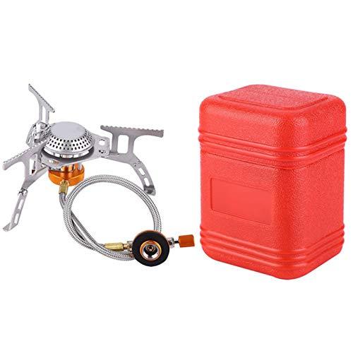 Canghai Estufa gas portátil camping de 3500 W plegable con encendido piezoeléctrico, estufa camping al aire libre para senderismo, barbacoa, picnic