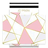 iMailer-6' x 9'(200pcs) Poly Mailer Envelope Triangular Marble Mailing Shipping Package Bags-Self Seal
