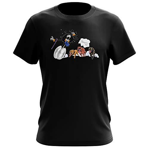 T-Shirt Noir One Piece parodique Brook : Le ami du Chien ! (Parodie One Piece)
