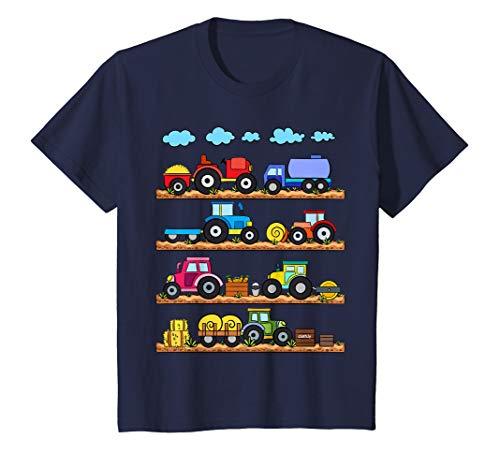 Kinder Trecker T-Shirt Traktor Jungen Fahrzeuge Bauernhof T-Shirt