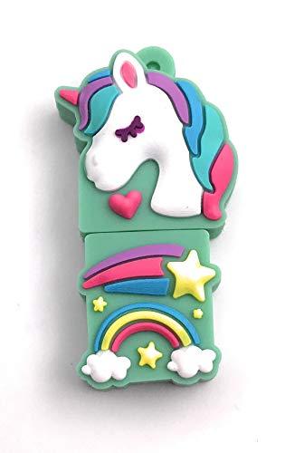 Onwomania Creature mitiche unicorno Monoceros bianco Chiavetta USB Chiavetta USB 16 GB Usb 3.0