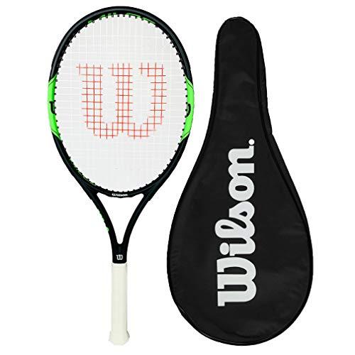Wilson Milos Tour 100 - Raqueta de tenis de grafito + cubierta completa (tamaño de agarre L1, L2, L3 y L4) (L3 (4 3/8 pulgadas)