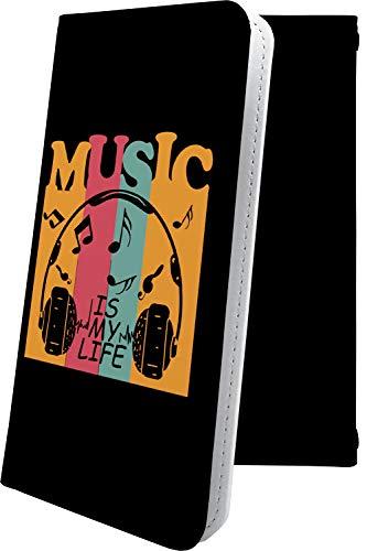 スマートフォンケース・Blade V7Lite / Blade V6・互換 ケース マルチタイプ マルチ対応スマートフォンケース・手帳型 音楽 音符 楽器 レゲエ ハート love kiss キス 唇 ブレイド ブラッド 手帳型スマートフォンケース・クラシック モノトーン classic bladev7 lite BladeV6 ユニーク おもしろ おもしろケース