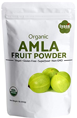 Organic Amla Fruit Powder, Amalaki Berry Powder, Value pack of 16 ounce/453 gm, USDA Organic, Raw Superfood, Immunity Booster, Promotes Skin and Hair Growth, Resealable Pouch