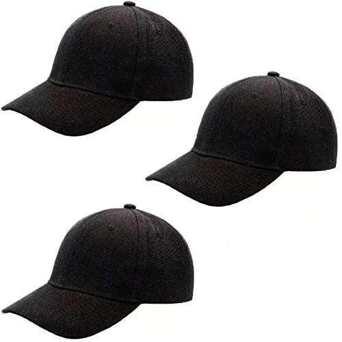 JNFOSEG Baseball Dad Cap Adjustable Size Perfect for Running Workouts and Outdoor Activities 3 Pack