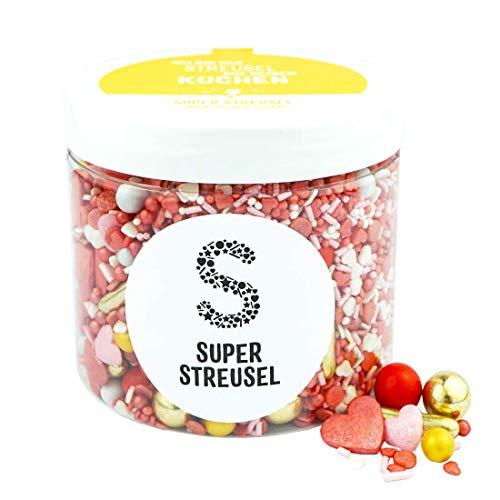 Super Streusel Liebesbisschen (180g) | Zuckerstreusel für Kuchen Kekse Torte uvm. | Alle Zutaten aus der EU | Streuselmix aus Hamburg bekannt aus TV & Print | Ohne AZO-Farbstoffe (180g)