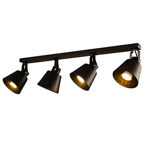 Lámparas de techo rústicas Focos industriales retros, lámparas modernas del techo del pasillo del porche minimalista, tienda de ropa Cafe Cuatro luces LED del techo Lámpara de techo Farmhouse