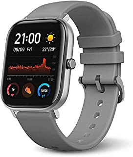 Amazfit GTS Smartwatch with 14-Day Battery Life,1.65 Inch AMOLED Display, Customizable Widgets, Slim Metal Body, 5 ATM Water Resistance, 24/7 Heart Rate and Activity Tracking, Lave Grey