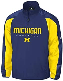 adidas Michigan Wolverines Coaches Pullover Jacket