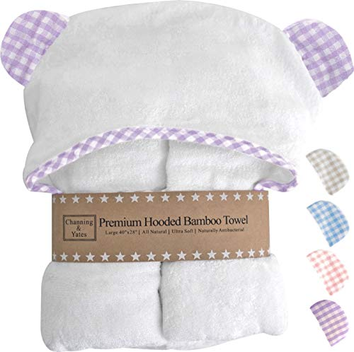 Channing & Yates - Premium Baby Towels for Girls - Hooded Girl Towel &...
