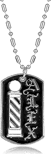 Yiffshunl Collar Barber Shop Collar Peluquero Collar Oración Peluquero Estilista Colgante Colgante Hombre Pegatina Novio Regalo Collar Colgante Cadena para Mujeres Hombres Regalos