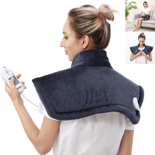 Heating Pad for Neck & Shoulder Pain Relief,4 Heat Settings with Auto-Off,Soft Flannel for Shoulders, Neck, Back, Legs...