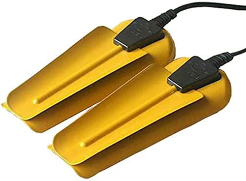 Asciugascarpe Elettrico Portatile, Scaldascarpe Deodorante Deumidificatore per l'asciugatura di Scarpe Stivali Guanti Calzini Asciugatrici,Guanti Portatili Calzini Asciugascarpe,Giallo