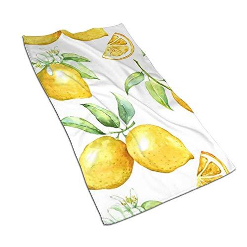Hdadwy Toallas de Mano de limón 27.5 'X15.7' 'Toalla Facial Multiusos Ultra Suave Altamente Absorbente para baño, Hotel, Gimnasio, SPA, Yoga, Cocina, decoración del hogar