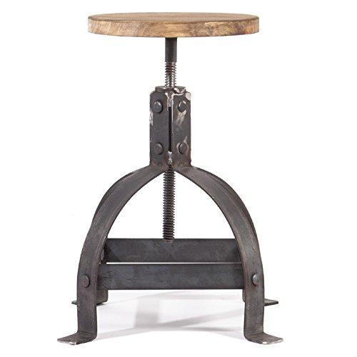 Indhouse - Taburete Vintage de Estilo Loft Industrial en Met