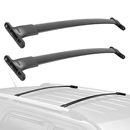 MOSTPLUS Roof Rack Cross Bar Rail Compatible for 2016 2017 2018 2019 Ford Explorer Cargo Racks Rooftop Luggage Canoe Kayak Carrier Rack