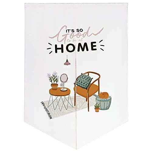 ZWJHNN Home Decoration Noren Tür Vorhang Thick Baumwolle Leinen Lange Gedruckt Tür Tapisserien (Color : 3 Cartoon, Size : 29.5x35.4in)