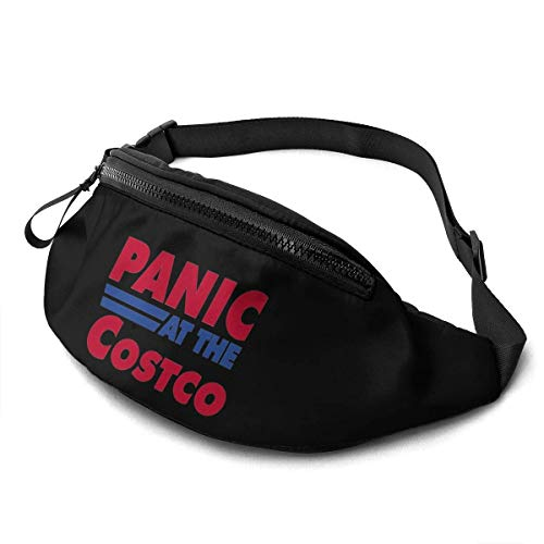 Jard-T Fanny Pack,Panic at The Costco Casual Outdoor Waist Bag for Workout Travel Hiking