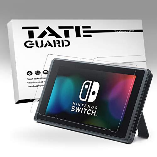 TATE GUARD kompatibel Nintendo Switch Display Schutzfolie, Matt, 3 x Bildschirm Schutz, Vollständige Abdeckung, 4H Härtegrad, Kratzfest, 100% Transparenz, Einfaches Anbringen, Blasenfrei