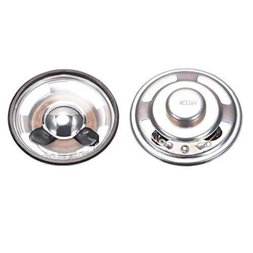 N/D 3W 4 ohmios bricolaje, altavoz magnético 50 mm, altavoz de repuesto de forma redonda para 2...