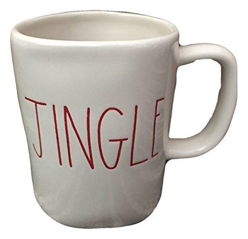 Rae Dunn by Magenta Ceramic Christmas Holiday JINGLE Cup Mug