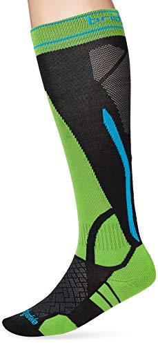 Bridgedale Ski LWS, calzetti Unisex-Adulto, Nero/Verde, Taglia Unica