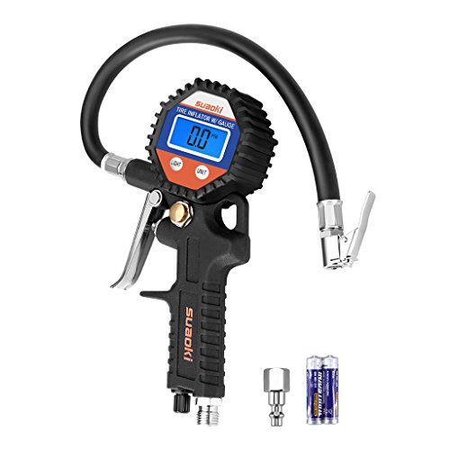 SUAOKI Digital Tire Pressure Gauge 150 PSI with Hose and Quick Connect Coupler for Car Truck Motorcycle Bicycle