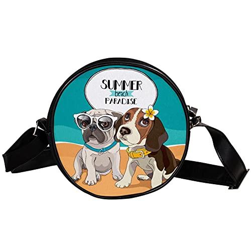Bolso Bandolera,Bolsos Cruzados con Carga Bolso de Pecho Impermeable para Viajes Trabajo Escolar Senderismo Pecho Bolsa Playa de verano paraíso para perros